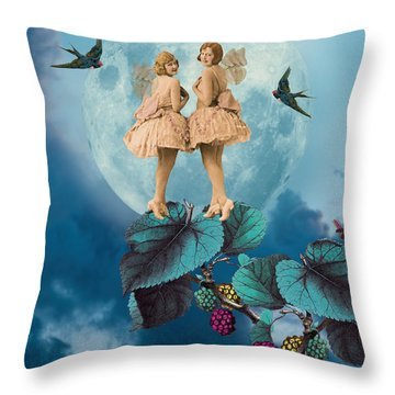 Blue Moon Throw Pillow by Olga Snell