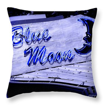 Blue Moon Throw Pillow by Perry Webster