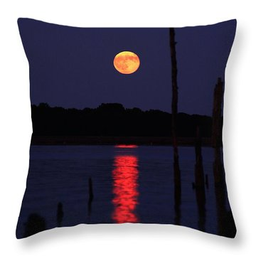 Blue Moon Throw Pillow by Raymond Salani III