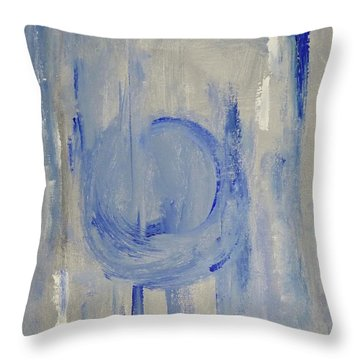 Blue Moon Throw Pillow by Victoria Lakes