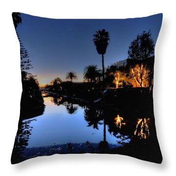 Blue Moonlet Throw Pillow