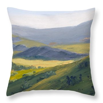 Blue Morning Throw Pillow