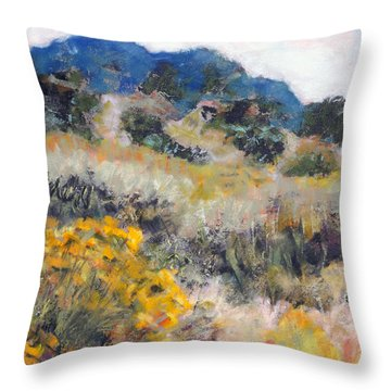 Blue Mountain Throw Pillow by Julie Maas