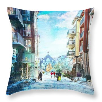 Blue Mountain Village, Ontario Throw Pillow