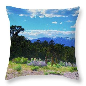 Blue Mountain West Throw Pillow