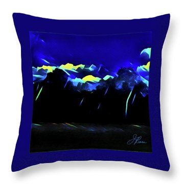 Throw Pillow featuring the painting Blue Mountains by Joan Reese