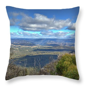 Throw Pillow featuring the photograph Blue Mountains, New South Wales, Australia by Elaine Teague