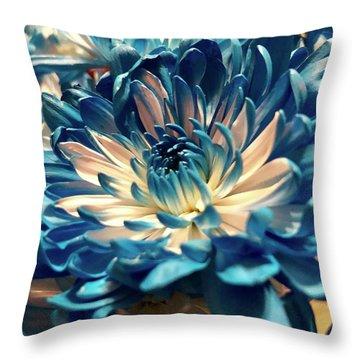 Blue Mum Throw Pillow