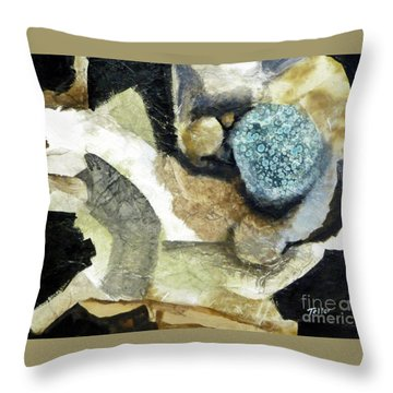 Blue Nest Throw Pillow