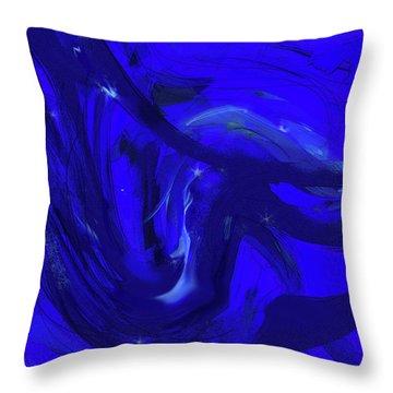 Blue Night 2 Throw Pillow
