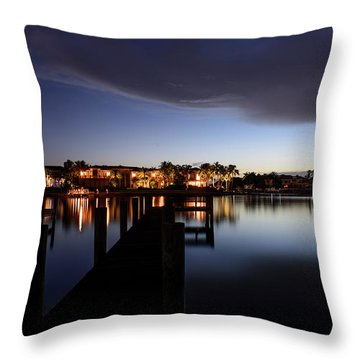 Throw Pillow featuring the photograph Blue Night by Laura Fasulo