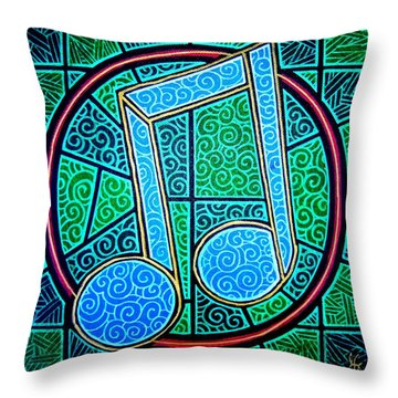 Throw Pillow featuring the painting Blue Note by Jim Harris