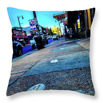 Blue Notes On Beale Throw Pillow