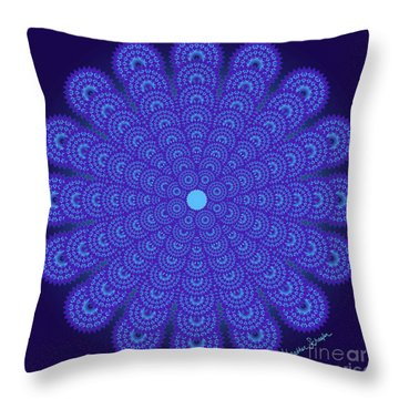 Blue Obsession Throw Pillow