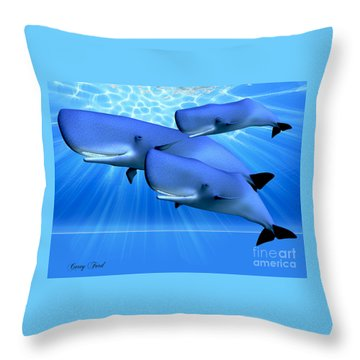 Blue Ocean Throw Pillow by Corey Ford