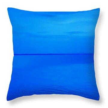 Blue Ocean Twilight Throw Pillow