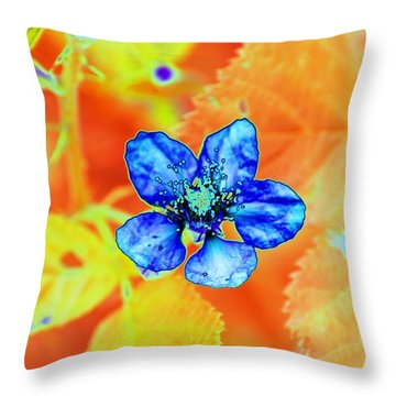 Blue On Yellow Throw Pillow