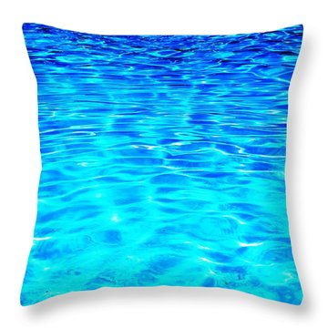 Throw Pillow featuring the photograph Blue Or Green by Ramona Matei