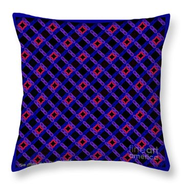 Blue Overlay Throw Pillow