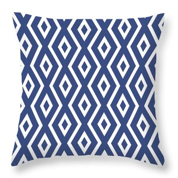 Blue Pattern Throw Pillow