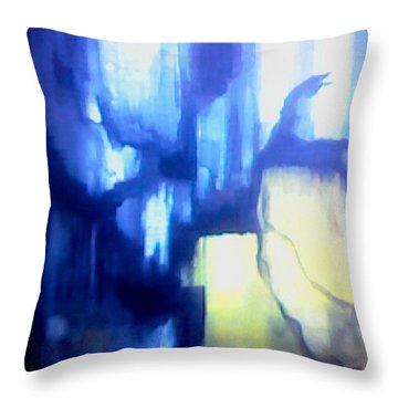 Blue Patterns Throw Pillow