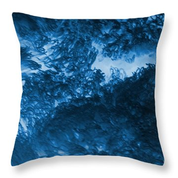 Blue Plants Throw Pillow by Kathleen Struckle