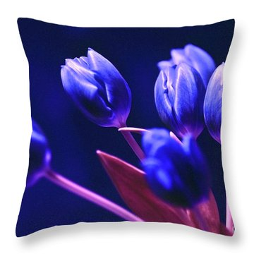 Blue Poetry Throw Pillow