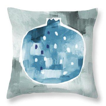 Blue Pomegranate- Art By Linda Woods Throw Pillow