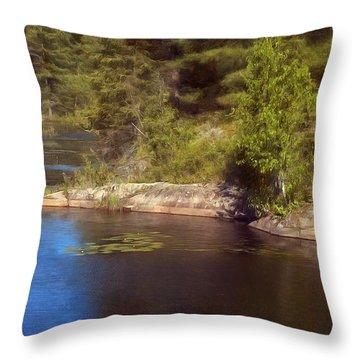 Blue Pond Marsh Throw Pillow
