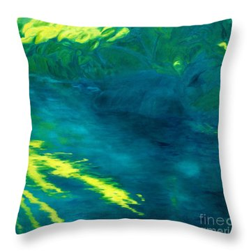 Blue Pool Off Ulaino Road Throw Pillow by Fay Biegun - Printscapes