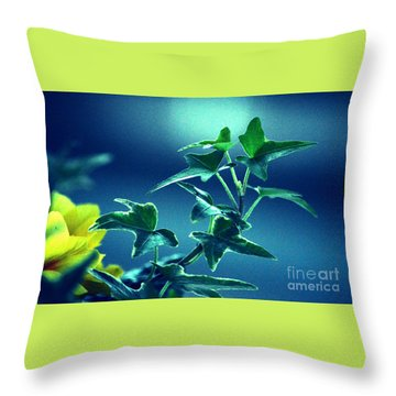 Throw Pillow featuring the photograph Blue Power  by Susanne Van Hulst