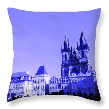 Throw Pillow featuring the photograph Blue Praha by Michelle Dallocchio
