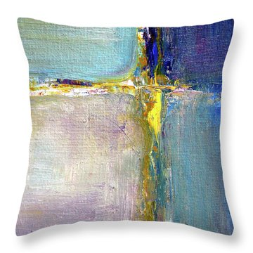 Throw Pillow featuring the painting Blue Quarters by Nancy Merkle