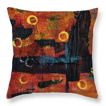 Blue Relic Throw Pillow