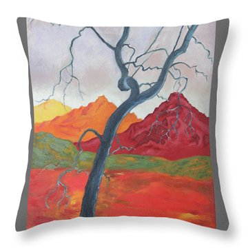 Blue Retama Throw Pillow