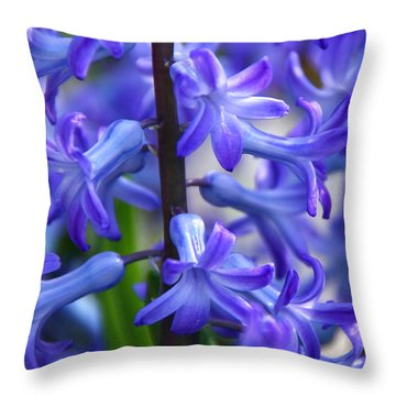 Throw Pillow featuring the photograph Blue Rhapsody by Byron Varvarigos