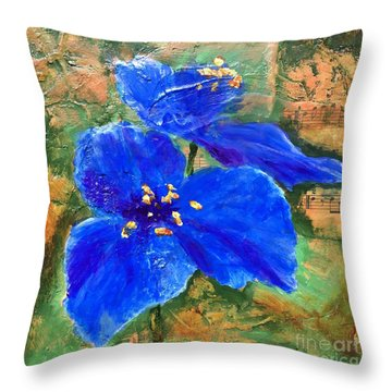 Blue Rhapsody Throw Pillow