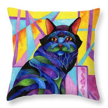 Blue Rhapsody Throw Pillow by Sherry Shipley