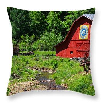 Blue Ridge Barn Throw Pillow