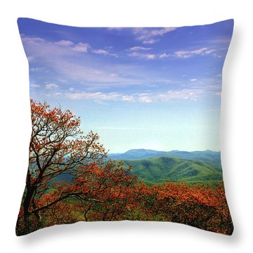 Throw Pillow featuring the photograph Blue Ridge Blessing by Jessica Brawley