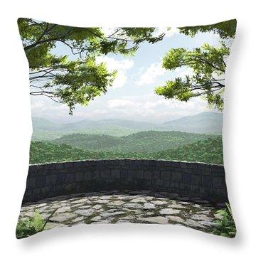 Blue Ridge Throw Pillow