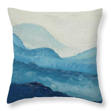 Blue Ridge Throw Pillow by D T LaVercombe