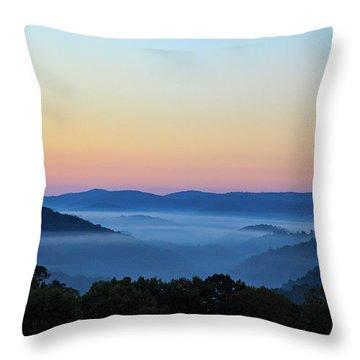Blue Ridge Dawn Throw Pillow by Dale R Carlson