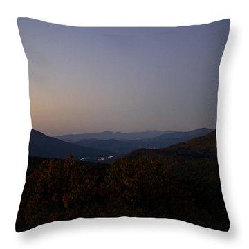 Blue Ridge Dawn Throw Pillow