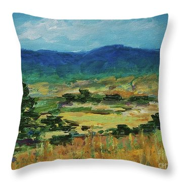 Blue Ridge Throw Pillow by Gail Kent