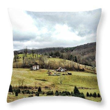 Blue Ridge Homestead Throw Pillow