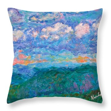Blue Ridge Magic From Sharp Top Stage One Throw Pillow by Kendall Kessler