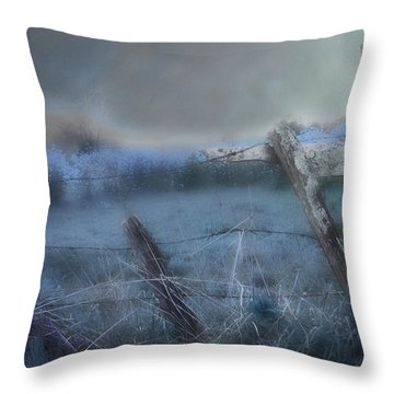 Throw Pillow featuring the painting Blue Ridge Morning by Gray  Artus