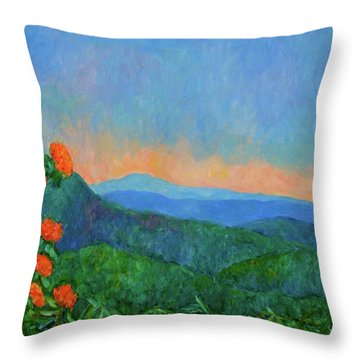 Blue Ridge Morning Throw Pillow by Kendall Kessler
