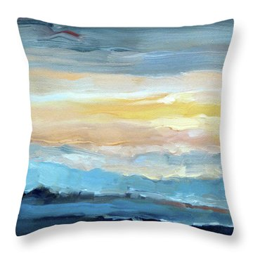 Blue Ridge Mountain Sunset 1.0 Throw Pillow